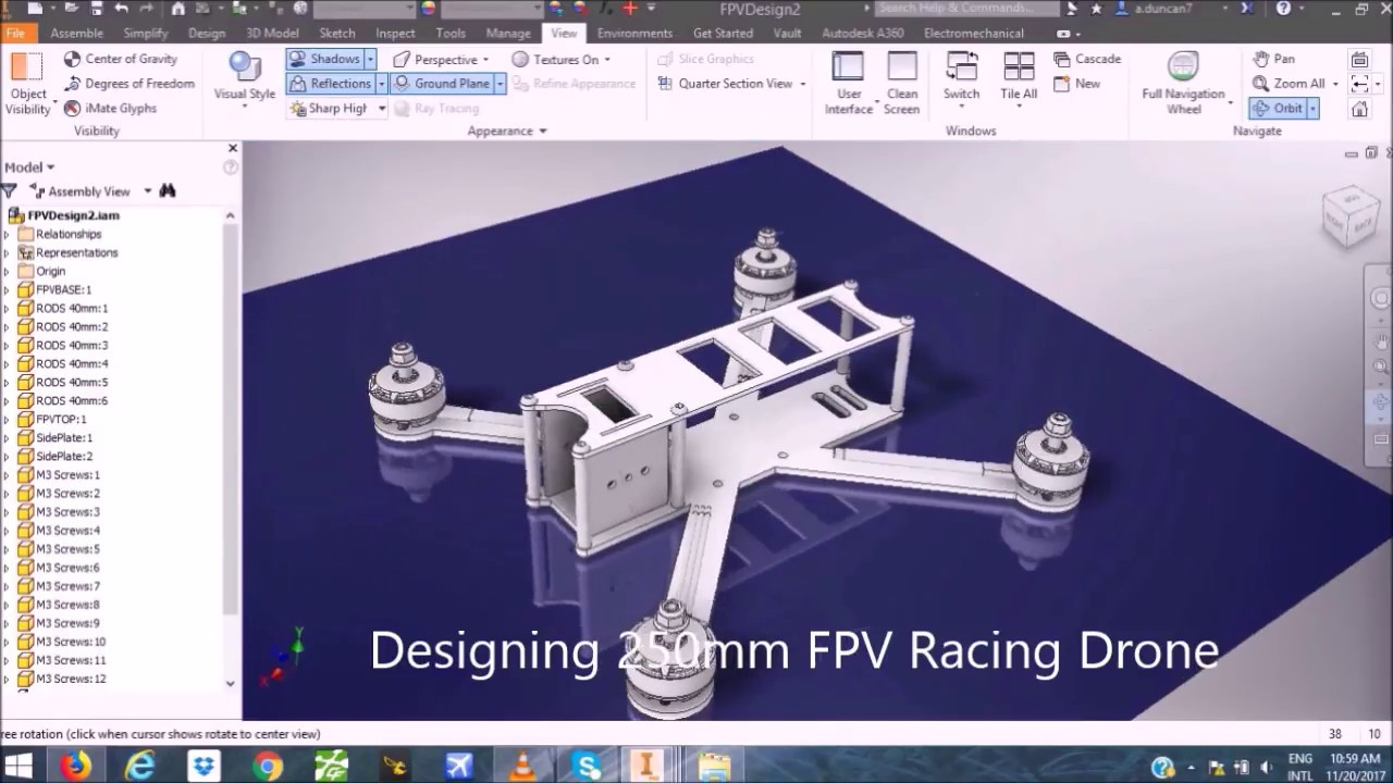 FPV Racing Drone Design in Autodesk Inventor | Flying Fast
