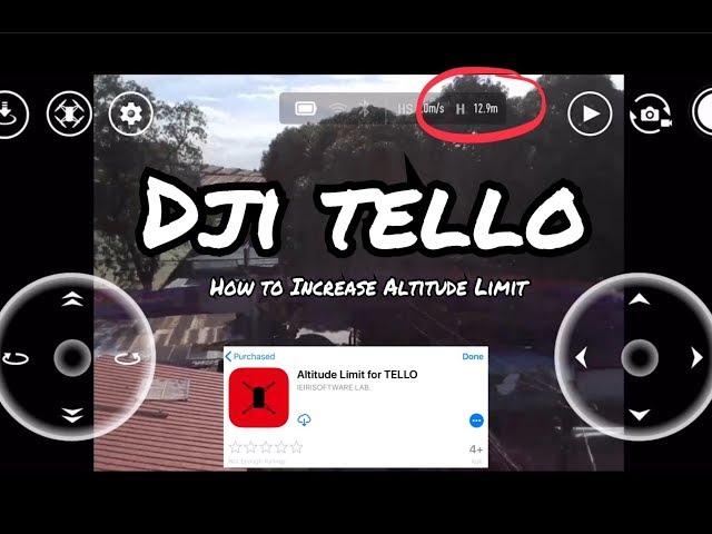 RYZE DJI Tello (How to extend the 10m max altitude of your Tello)