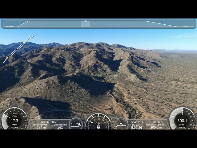 Parrot Bebop 2 altitude test over set points